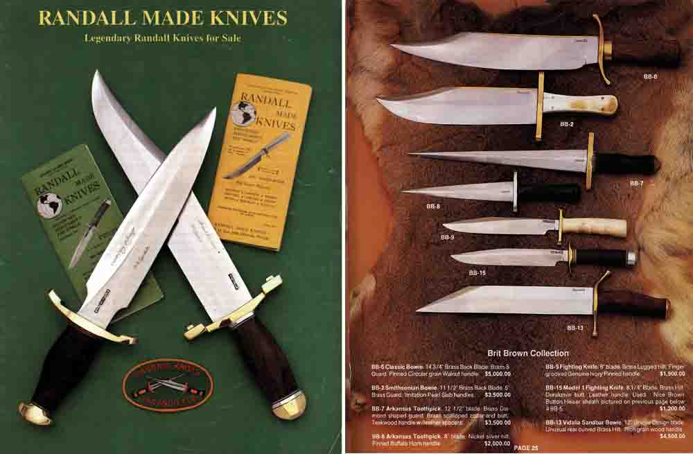 Randall Made Knives c1985 Sales Catalog