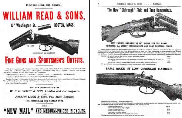Read, William 1900 Gun Catalog, Boston, Massachusetts