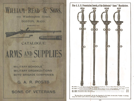 Read, William 1898c Arms & Supplies- Cadet Rifles, Swords, Parade Gear