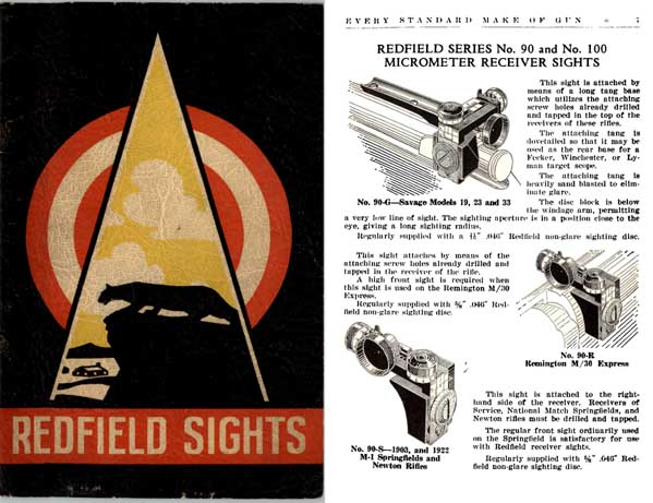 Redfield 1938 Sight Guide No. 38
