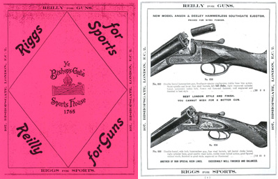 Reilly 1924 Sports House and Guns Catalogue