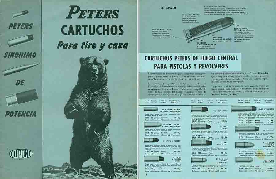 Remington-Peters 1958 Cartuchos Catalogue