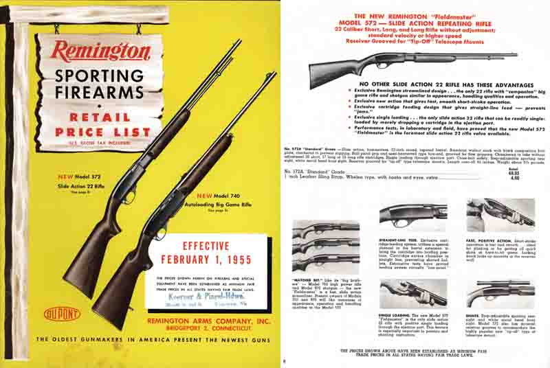 Remington 1955 Retail Price Catalog