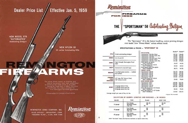 Remington 1959 Arms Dealer Price Catalog