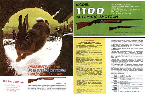 Remington 1965 Shotguns Catalog