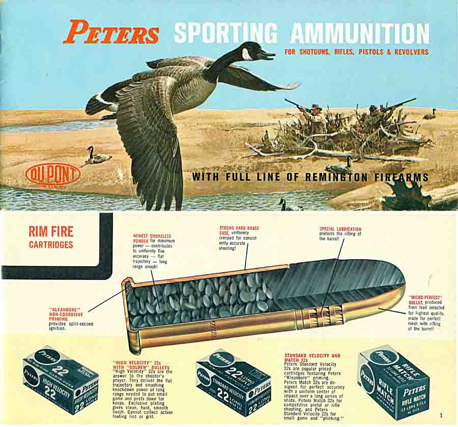 Remington 1964 Gun and Peters Ammunition Pocket Catalog