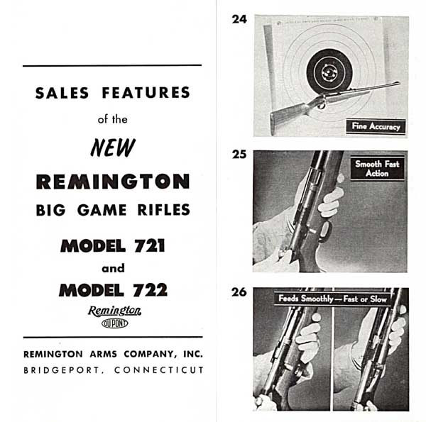 Remington Model 721-722 Introduction Catalog