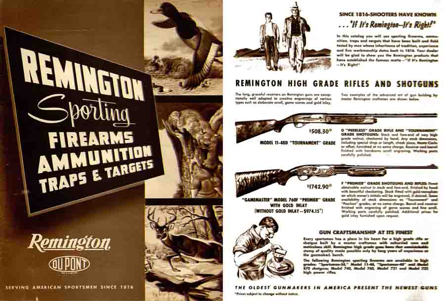 Remington 1956 Gun Catalog