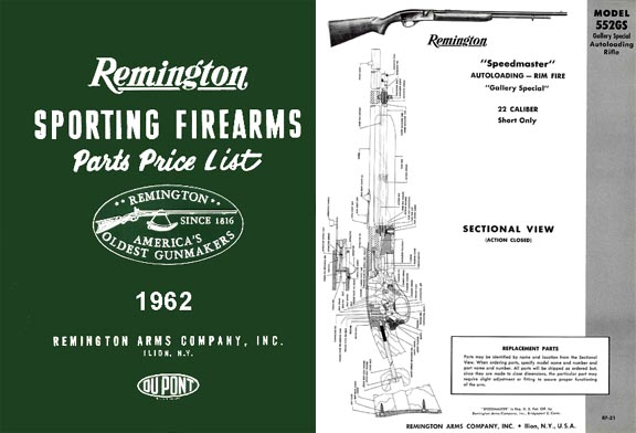 Remington 1962 Component Parts Catalog