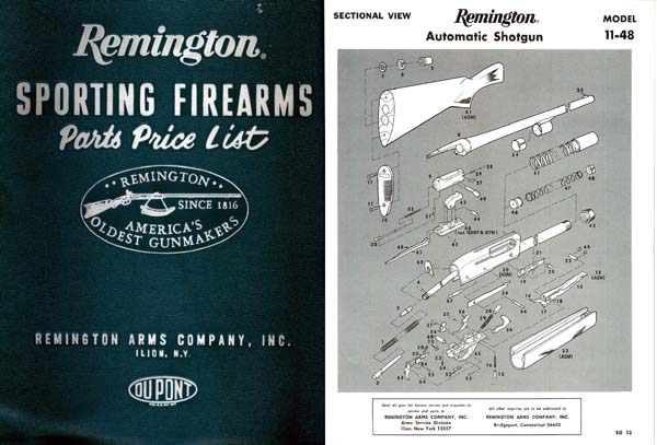 Remington 1983 Component Parts Catalog