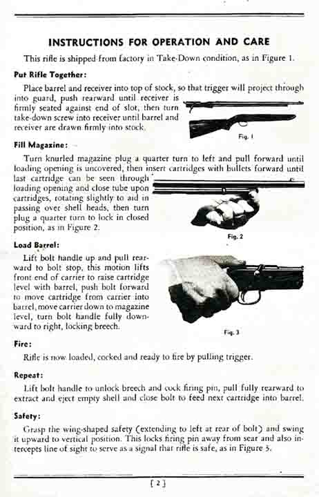 Remington Model 341 Rifle Manual c1938