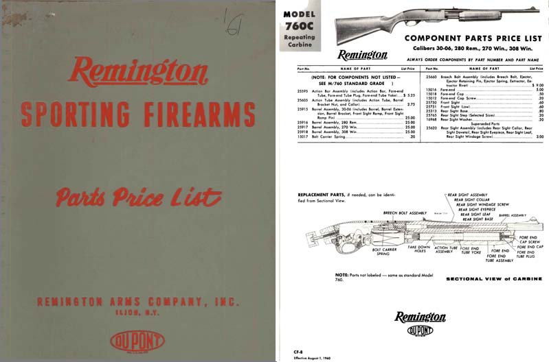 Remington 1961 Parts Catalog
