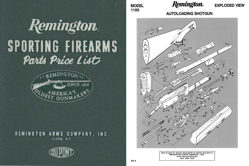 Remington 1993 Parts Catalog