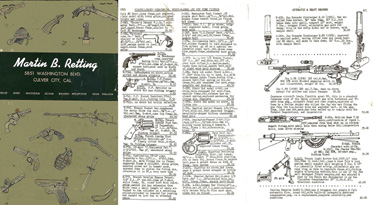 Retting, Martin B. 1953 Collector Gun Catalog with Prices (Culver City, CA)