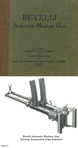 Revelli c1935 Machine Gun Advertising (Italian & Canadian)