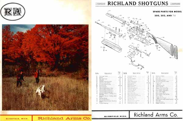Richland Arms 1968 Catalog, Blissfield, MI