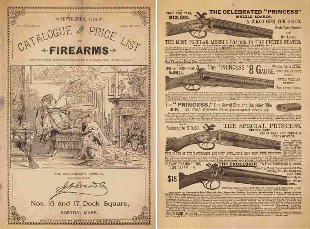 J. A. Ross Co. 1884 Firearms Catalog, Boston, MA
