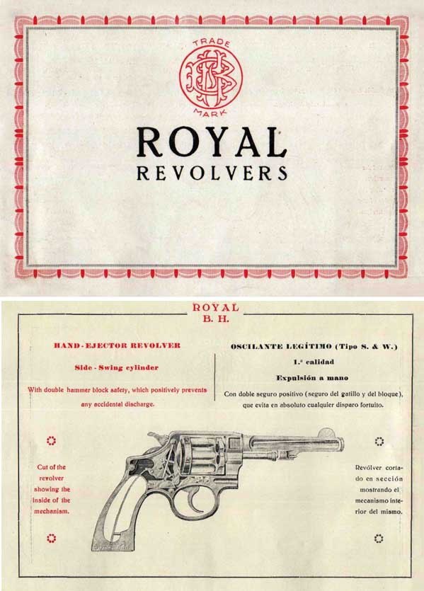 Beistegui Hermanos c1925 Royal Revolvers, Eibar, Spain