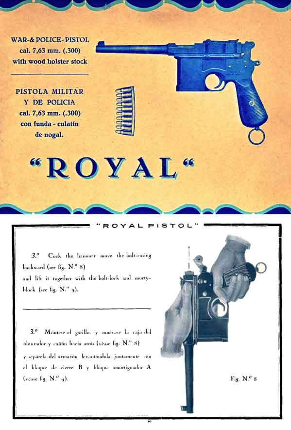 Beistegui Hermanos- Royal c1935 Mauser AutoMP Manual