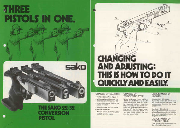Sako 1978 - .22/.32 Pistol Manual