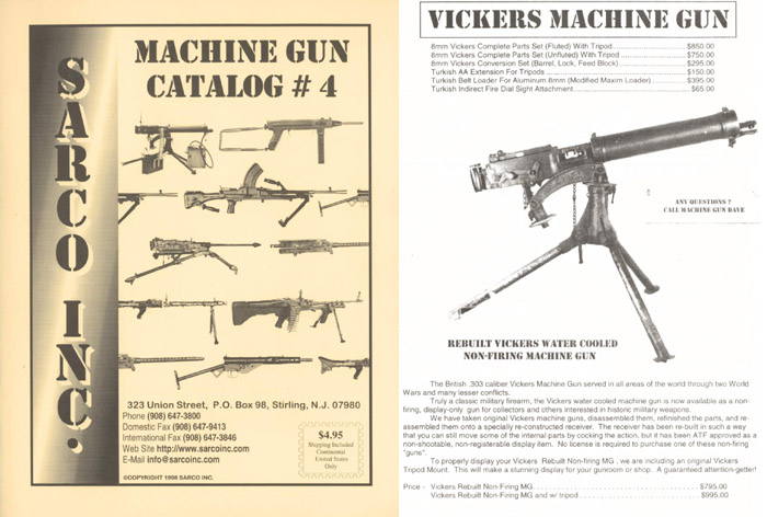 Sarco 1998 Machine Gun Catalog #4