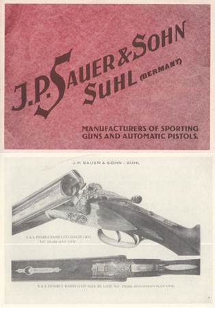 Sauer & Sohn c1930 Gun Catalog (in English)