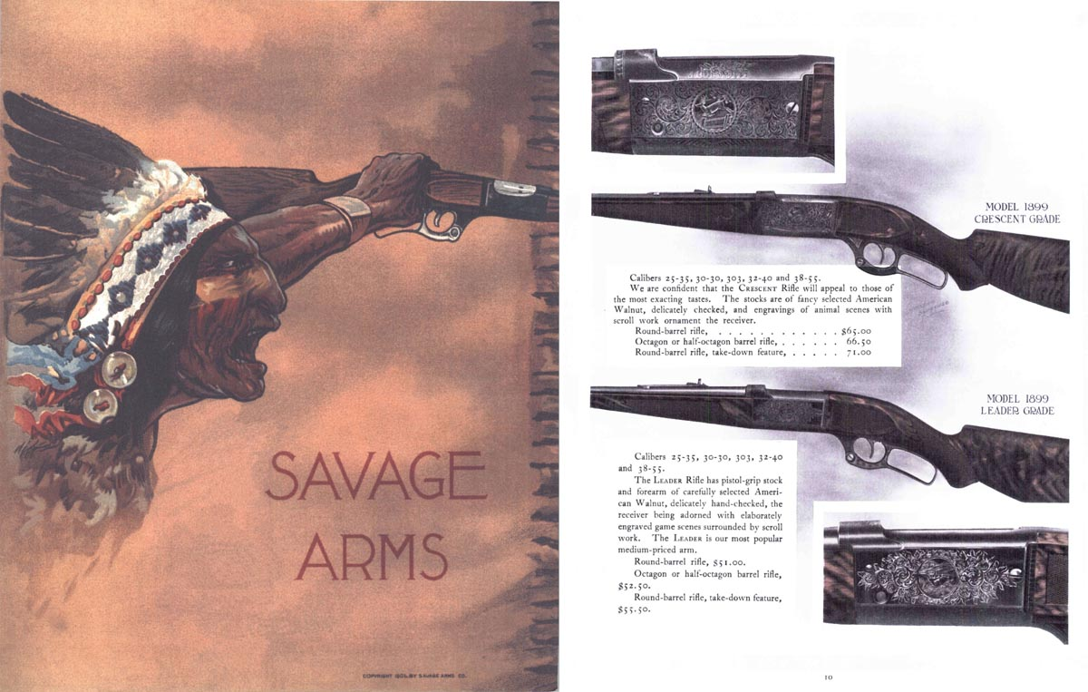 Savage c1908 Arms Company No. 24 Catalog