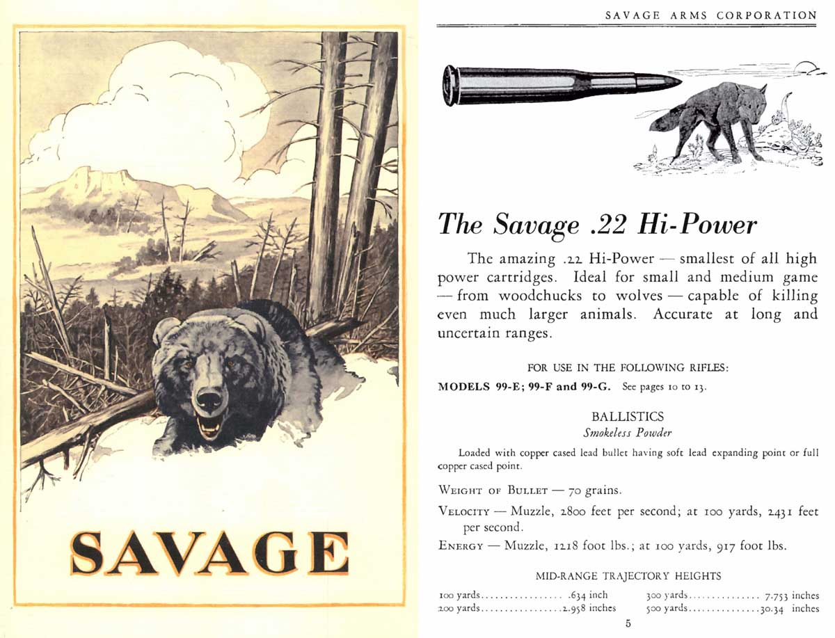 Savage c1924 Arms Company No. 63 Catalog