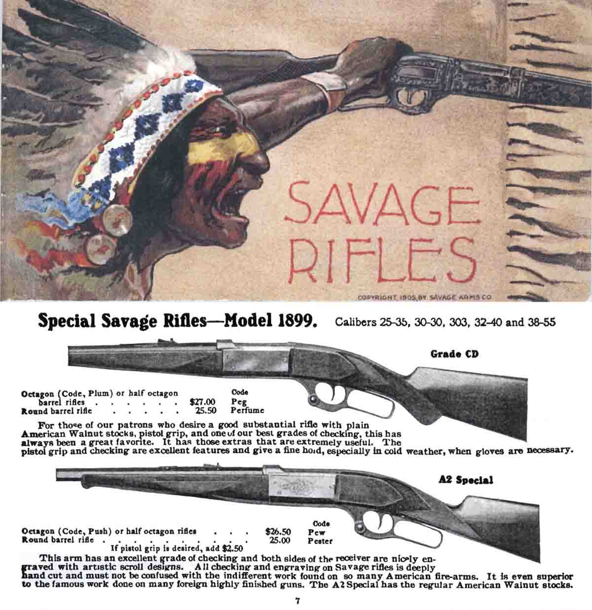 Savage 1905 Arms Company No. 17 Catalog