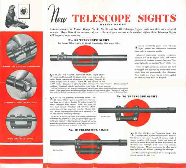 Savage c1935 Rifles, Telescopic Sights Flyer