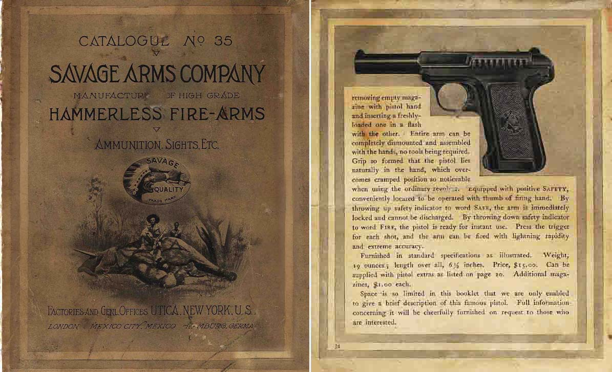 Savage 1909 Arms Company Catalog No. 35
