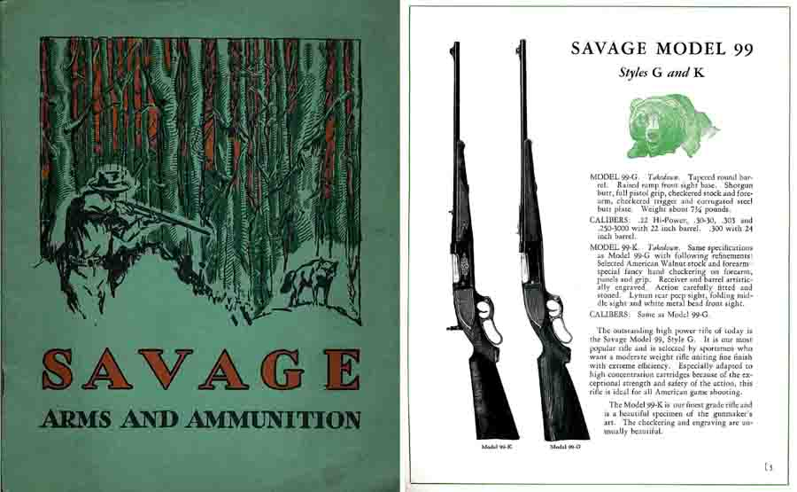 Savage 1931 Arms Gun Catalog