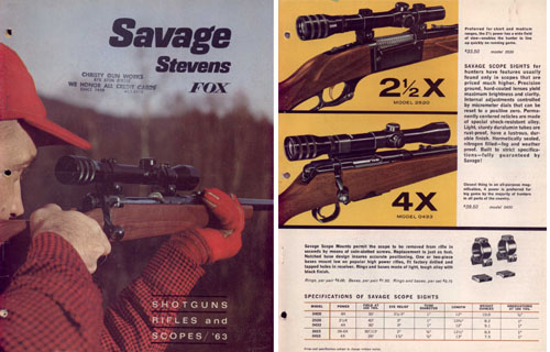 Savage 1963 Firearms Catalog