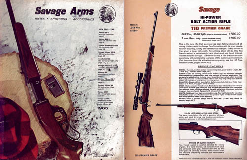 Savage 1965 Firearms Catalog