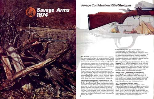 Savage 1974 Firearms Catalog