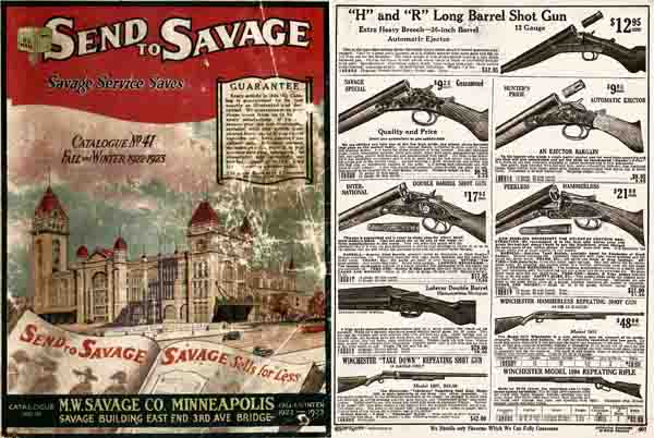 Savage, M.W, Company Fall 1922 Catalog (Minneapolis, MN)