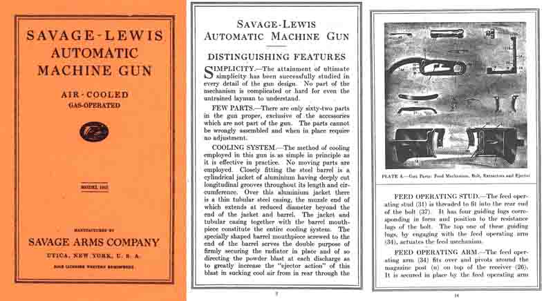 Lewis M1915 Automatic Machine Gun- Savage Arms Co.- Manual