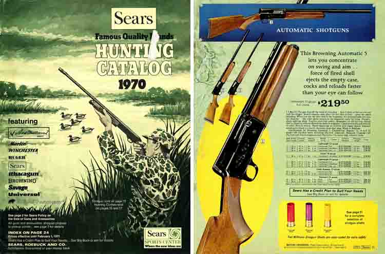 Sears, Roebuck & Co. 1970 Firearms Catalog