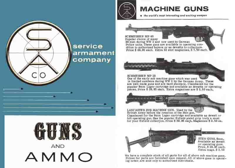 Service Armament Company 1960 Catalog