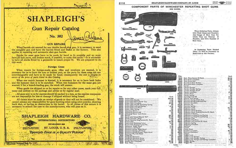Shapleigh Hardware Co. 1915 Parts & Materials Catalog (St. Louis, MO)