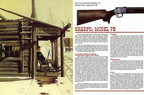 Sharps 1969 New Model 78 Catalog