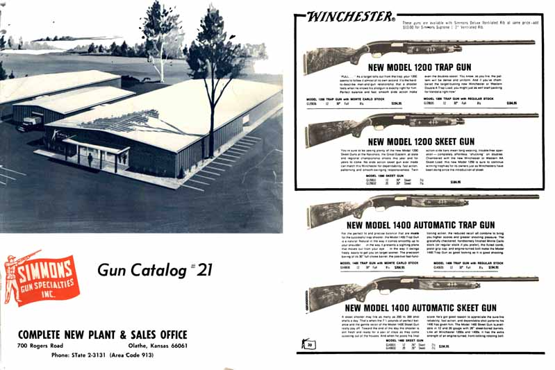 Simmons 1966 Gun Catalog, Olathe, Kansas