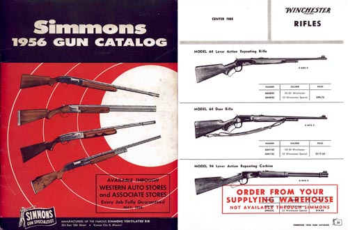 Simmons Gun Specialties 1956 Catalog
