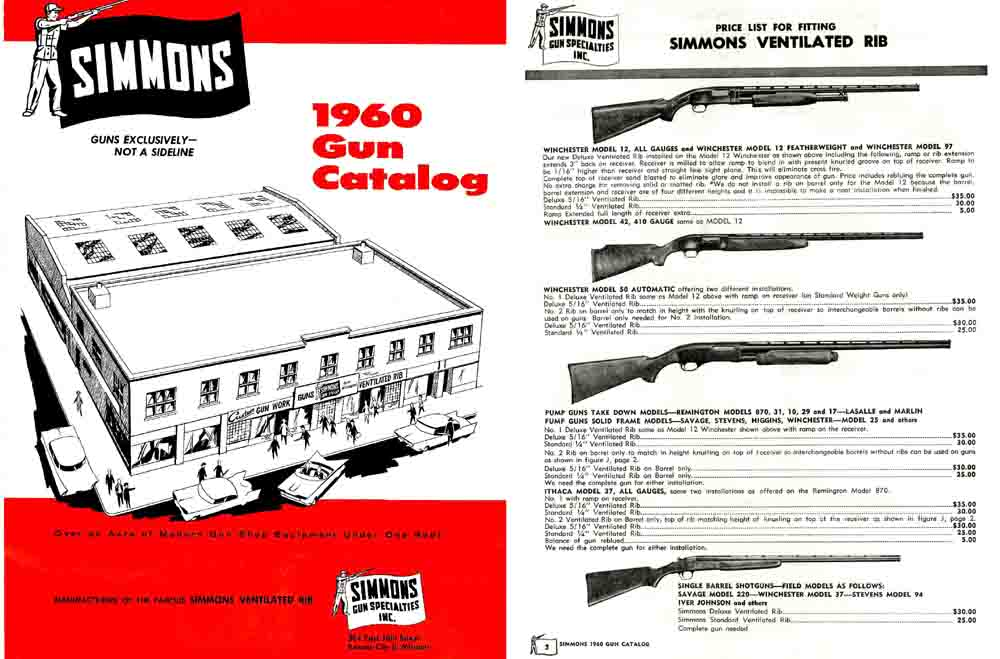 Simmons Gun Catalog 1960 Kansas City, Missouri