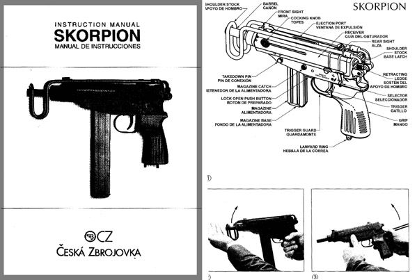 Skorpion c1964 Submachine-  Gun Instruction Manual