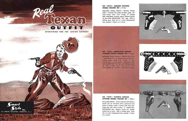 Smart Style Inc. c1951 Real Texan Cap Guns Catalog