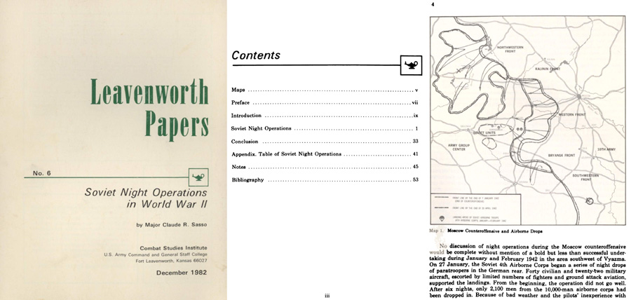 Leavenworth Papers; Soviet Night Operations in WWII