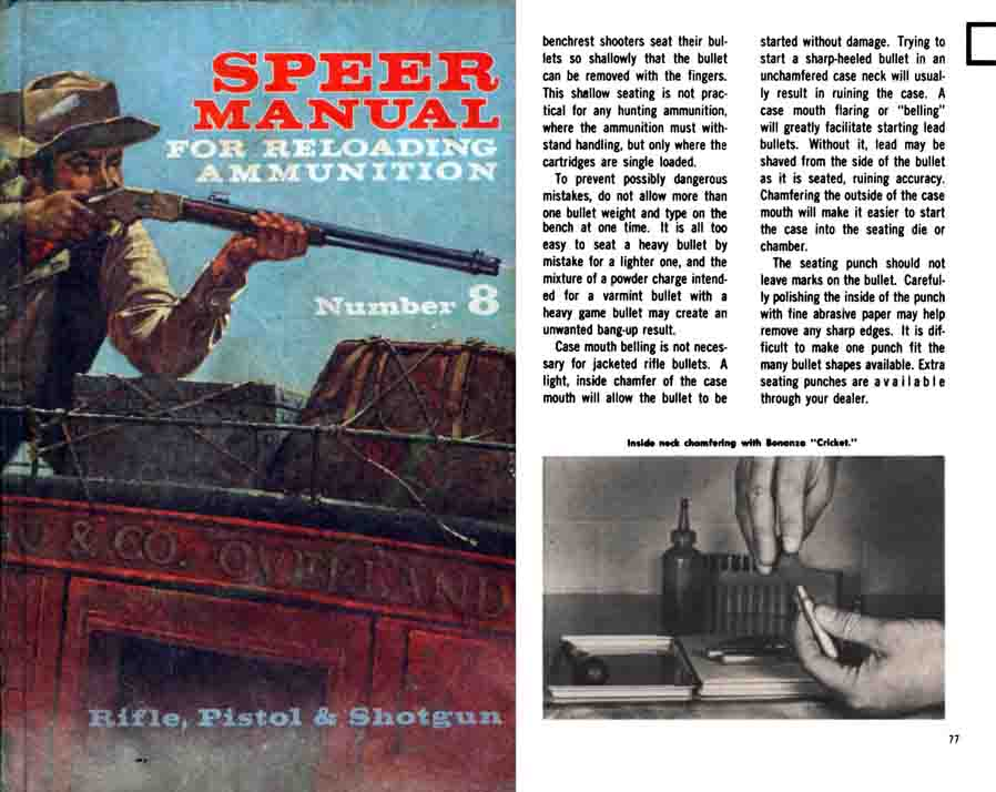 Speer 1970 Reloading Manual No. 8
