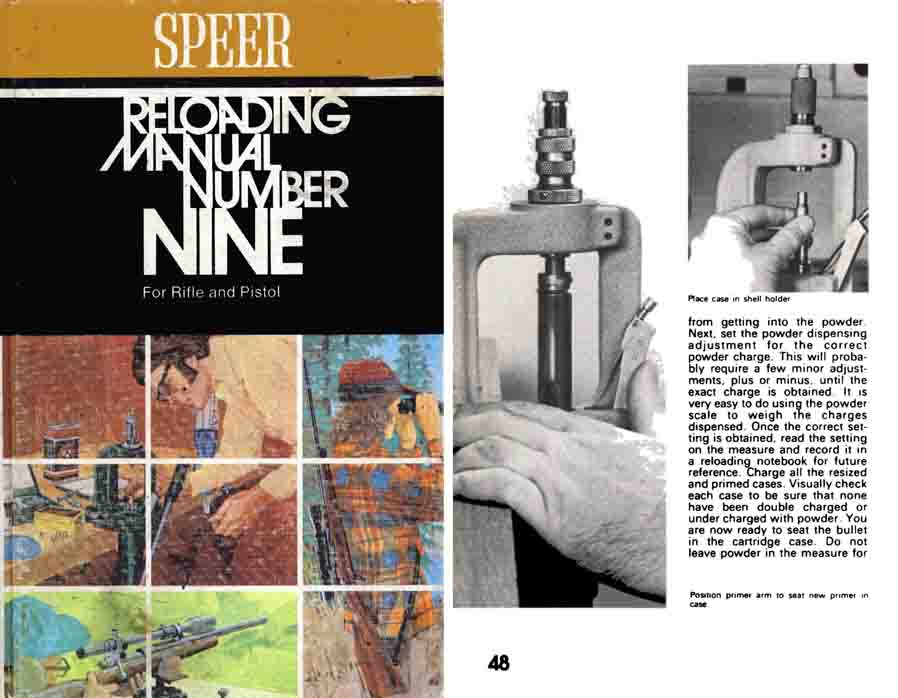 Speer 1974 Reloading Manual No. 9