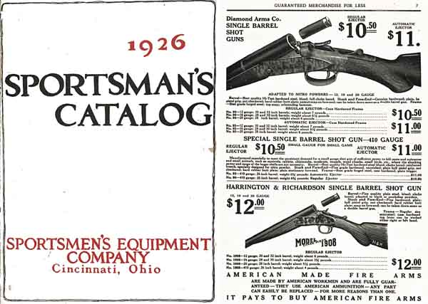 Sportsman's Catalog 1926, Cincinnati, Ohio